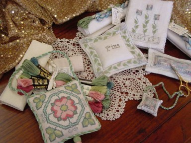 Designs:    Pins & Needles  &                              Tudor Rose Ornamental
